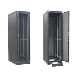 """Szafa rack 19"""" 45U 600x1000, stojąca, z szybą, czarna (ZPAS WZ-SZBSE-004-5711-1-161)"""