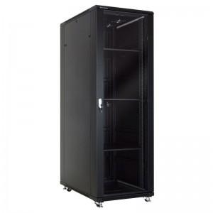 """Szafa rack 19"""" 37U 600x1000, stojąca, z szybą, czarna (Linkbasic NCB37-610-BAA-C)"""