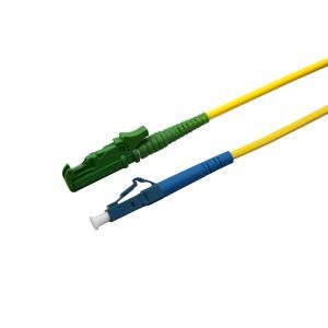 Patchcord światłowodowy jednomodowy, E2000/APC-LC/PC, SM 9/125, LS0H, simplex, 2m