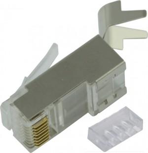 Złącze modularne RJ45 8p8c ekranowane, kat.6a v2, drut