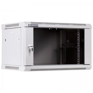"""Szafa rack 19"""" 6U 600x450, wisząca, z szybą, jednosekcyjna, szara (Linkbasic WCB06-645-BAB-C)"""