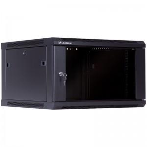 """Szafa rack 19"""" 6U 600x600, wisząca, z szybą, jednosekcyjna, czarna (Linkbasic WCB06-66-BAA-C)"""