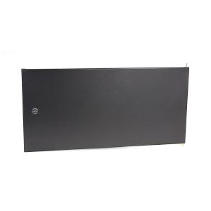 Drzwi pełne stalowe do szaf wiszących Base Link 6U, czarne