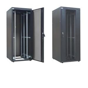 """Szafa rack 19"""" 45U 800x1000, stojąca, perforowana, czarna (ZPAS WZ-SZBSE-003-5711-13-7111-1-161)"""
