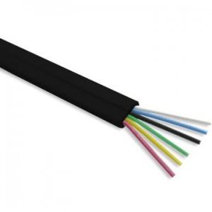 Przewód telefoniczny płaski, 6-żyłowy (KP6), czarny, 100m