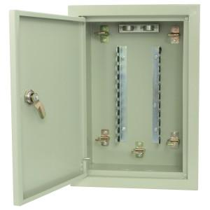 Skrzynka rozdzielcza LSA dla 100 par, podtynkowa, metalowa, zamykana na klucz