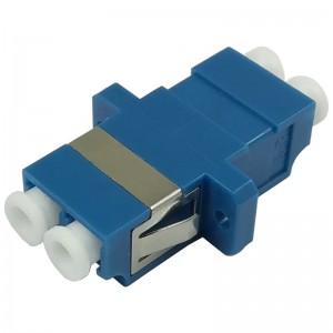 Adapter światłowodowy LC, jednomodowy, duplex
