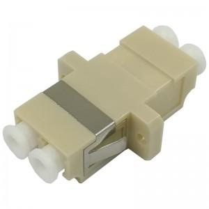 Adapter światłowodowy LC, wielomodowy, duplex