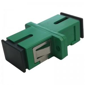 Adapter światłowodowy SC APC, jednomodowy, simplex, ECO