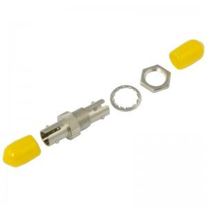 Adapter światłowodowy ST, jednomodowy, simplex