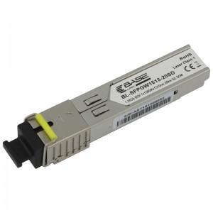 Moduł SFP WDM, SM SC, 40km, 1,25G, TX:1550nm, DDM (Base Link)