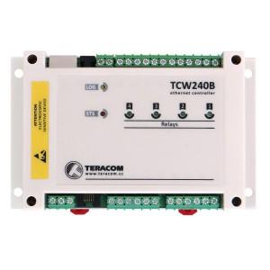 Kontroler IP, 4x WE cyfrowe/analogowe, 4x WY przekaźnikowe, 1-Wire, e-mail, SNMP (TCW240B)