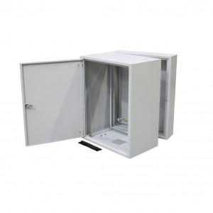 """Szafa rack 19"""" 15U 600x500, wisząca, metalowa, dwusekcyjna, szara (ZPAS WZ-3505-01-M4-011)"""