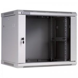 """Szafa rack 19"""" 9U 600x450, wisząca, z szybą, jednosekcyjna, szara (Linkbasic WCB09-645-BAB-C)"""