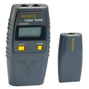 Tester okablowania RJ45, RJ11, funkcja głosowa (FC-4073)