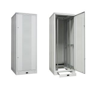 "Szafa rack 19"" 45U 600x1000, stojąca, z szybą, szara (ZPAS WZ-SZBSE-003-5711-1-011)"