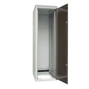 "Szafa rack 19"" 33U 600x600, stojąca, z szybą, szara (ZPAS WZ-SZB-152-17AA-11-0000-011)"