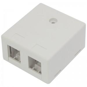 Gniazdo modularne na 2 moduły keystone, natynkowe