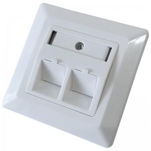 Gniazdo podtynkowe modularne, 2x keystone (Base Link) | outlet