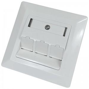 Gniazdo podtynkowe modularne, 3x keystone (Base Link) | outlet