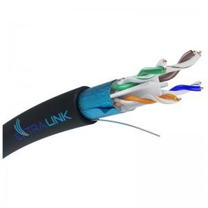 Kabel instalacyjny F/UTP kat.6 PE+GEL, zewnętrzny, 305m (Extralink)