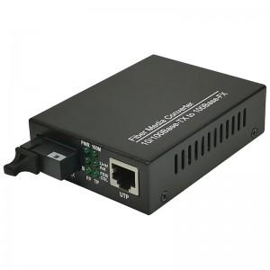 Media konwerter 10/100 Mbps, SM WDM 1550/1310nm, 20km (Base Link BL-MCWFE-20B)
