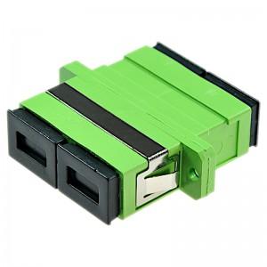Adapter światłowodowy SC/APC, jednomodowy, duplex, ECO