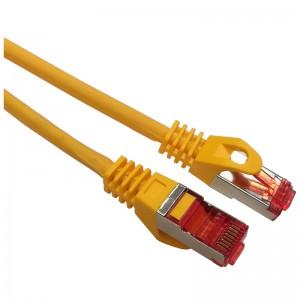 Patchcord S/FTP kat.6a 1m żółty (LSOH)