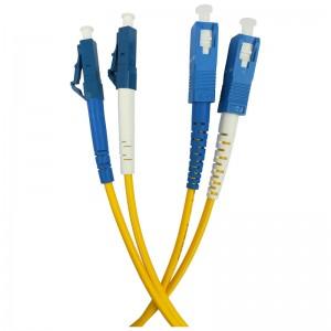 Patchcord światłowodowy jednomodowy, LC/UPC-SC/UPC SM duplex 0.5m, G.657A1 9/125