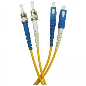 Patchcord światłowodowy jednomodowy, ST/PC-SC/PC, SM 9/125, LS0H, duplex, 3m