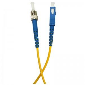 Patchcord światłowodowy jednomodowy, ST/PC-SC/PC, SM 9/125, LS0H, simplex, 1m
