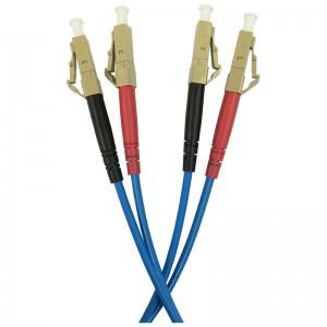 Patchcord światłowodowy wielomodowy, LC/PC-LC/PC, OM4, 50/125, LS0H, duplex, 1m (Base Link BL-D6ALCLC-01)