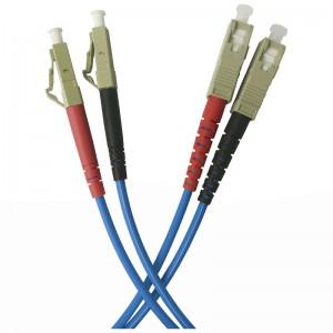 Patchcord światłowodowy wielomodowy, LC/PC-SC/PC duplex 5m, OM4 50/125