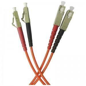 Patchcord światłowodowy wielomodowy, LC/PC-SC/PC, MM 50/125, duplex, 1m