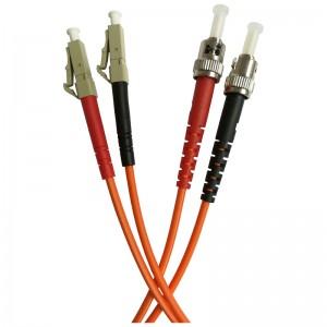 Patchcord światłowodowy wielomodowy, ST/PC-LC/PC, MM 50/125, duplex, 2m