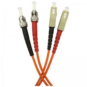 Patchcord światłowodowy wielomodowy, ST/PC-SC/PC, MM 50/125, duplex, 1m