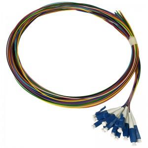 Pigtaile SM 12xLC/UPC 9/125 0,9mm, G.657A1, 12x2m