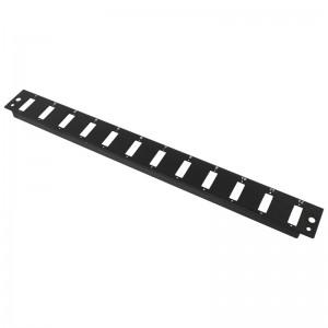 Płyta czołowa 1U, 12x SC duplex / LC quad, czarna (Base Link)