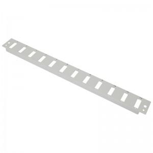 Płyta czołowa 1U, 12x SC duplex / LC quad, szara (Base Link)
