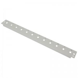 Płyta czołowa 1U, 12x ST simplex, szara (Base Link)