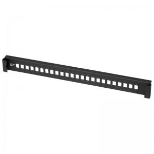 Płyta czołowa 1U, 24x SC simplex / LC duplex, czarna (Stalflex)