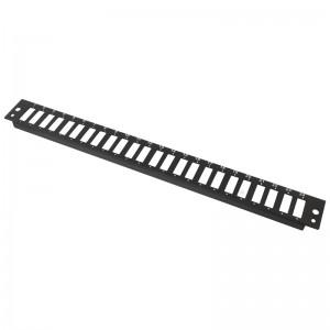 Płyta czołowa, 24x SC duplex / LC quad, czarna