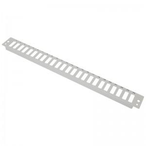 Płyta czołowa 1U, 24x SC duplex / LC quad, szara (Base Link)