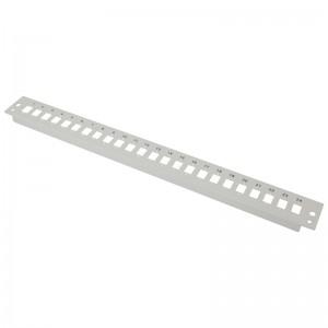Płyta czołowa 1U, 24x SC simplex / LC duplex, szara (Base Link)