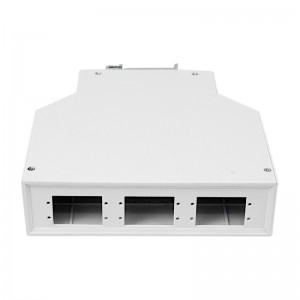 Przełącznica światłowodowa na szynę DIN, 6x SC duplex / LC quad