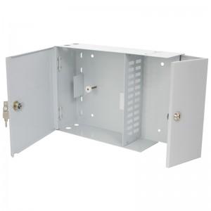 Przełącznica światłowodowa naścienna, dwudrzwiowa, 24x SC duplex / LC quad