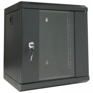 """Szafa rack 10"""" 6U 310x300, wisząca, z szybą, jednosekcyjna, czarna (Base Link BL-SRW100630SM-1C)"""