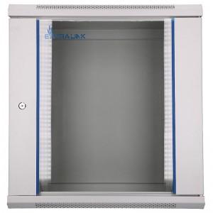 """Szafa rack 19"""" 12U 600x450, wisząca, z szybą, jednosekcyjna, szara (Extralink EX.8598)"""