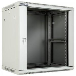 """Szafa rack 19"""" 12U 600x450, wisząca, z szybą, jednosekcyjna, szara (Linkbasic WCB12-645-BAB-C)"""