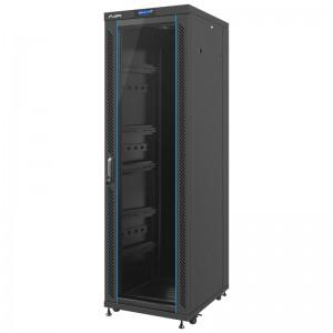 """Szafa rack 19"""" 37U 600x800, stojąca, z szybą, czarna (Lanberg FF02-6837L-12B)"""